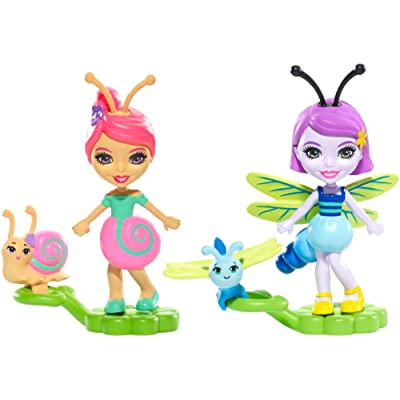 Enchantimals 2-Pack Saxon Snail & Dara Dragonfly Micro Dolls: Toys & Games