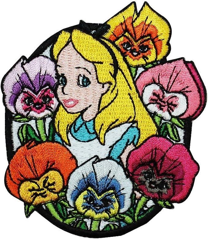 Disney Alicia en el país de las maravillas Reina de Corazones Villano Bordado Parche Coser Hierro en