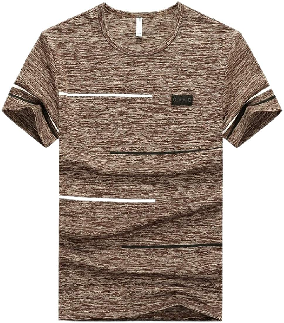 Xswsy XG Mens Summer Crew Neck Quick Dry Movement Over Sized Tee Shirt