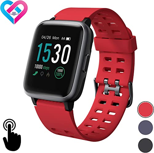 Pro-Fit Inspire VeryFitPro Smart Watch IP68 Waterproof Fitness Tracker Heart Rate Monitor Step Counter ID205 Red