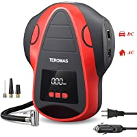 $57 » TEROMAS Tire Inflator Air Compressor, Portable DC/AC Air Pump for Car Tires 12V DC and Other…