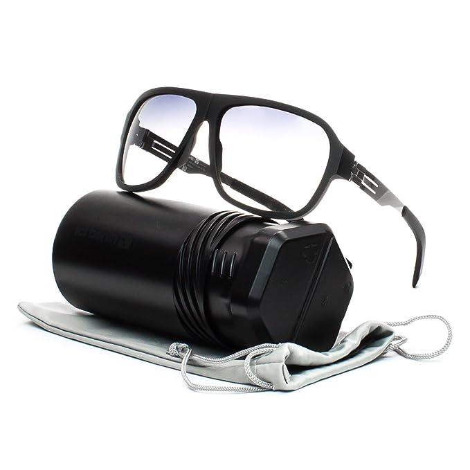 a8b82c688d1c1 ic! berlin A 0557 Power Law Sunglasses Black Rough Chrome