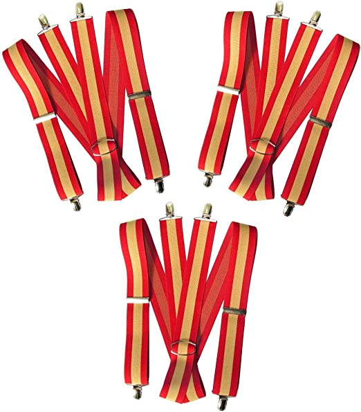 GLOSAN Tirante Bandera Española 40 adulto 160/170 cm. (pack 3 und ...