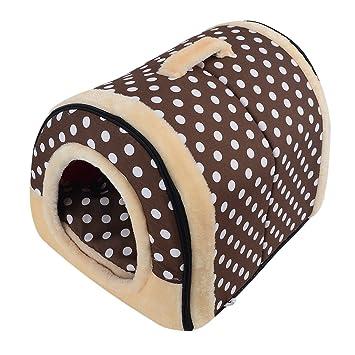Xianheng Casa Cama Portátil para Perros Gatos Multifuncional Súper Suave Nido de Mascotas Plegable de Moda