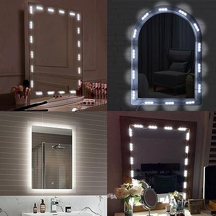 Borndo Makeup Mirror Light Bathroom Vanity Light Kit Vanity Mirror