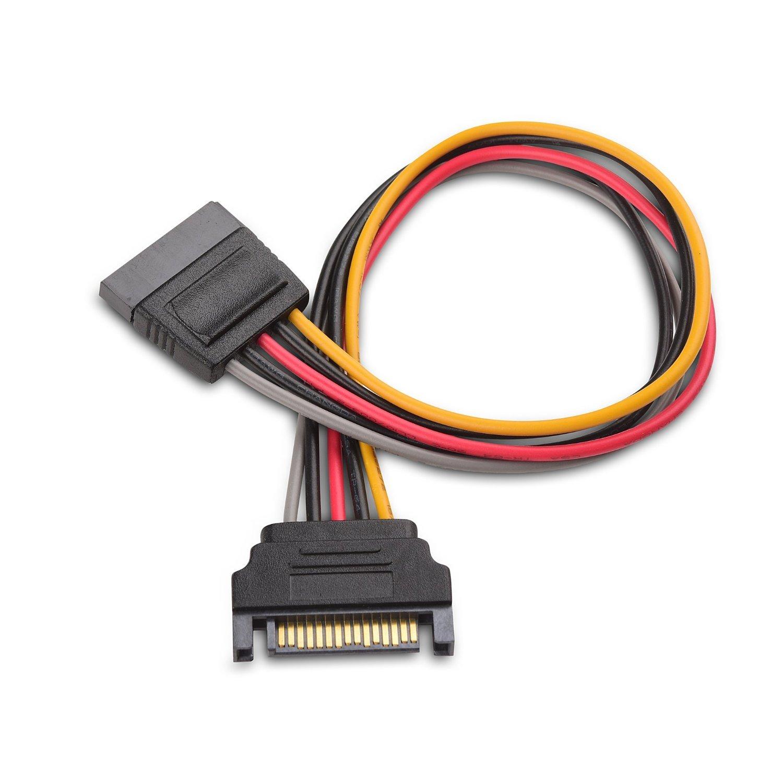 Cable Matters Cable de extensi/ón de alimentaci/ón SATA de 15 Pines 8 Pulgadas Paquete de 3