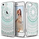"""iPhone 7 Funda, ESR Carcasa iPhone 7 Case Cover Borde Suave + Duro Funda para iPhone 7 4.7"""" - Casa de la Moneda de la mandala"""