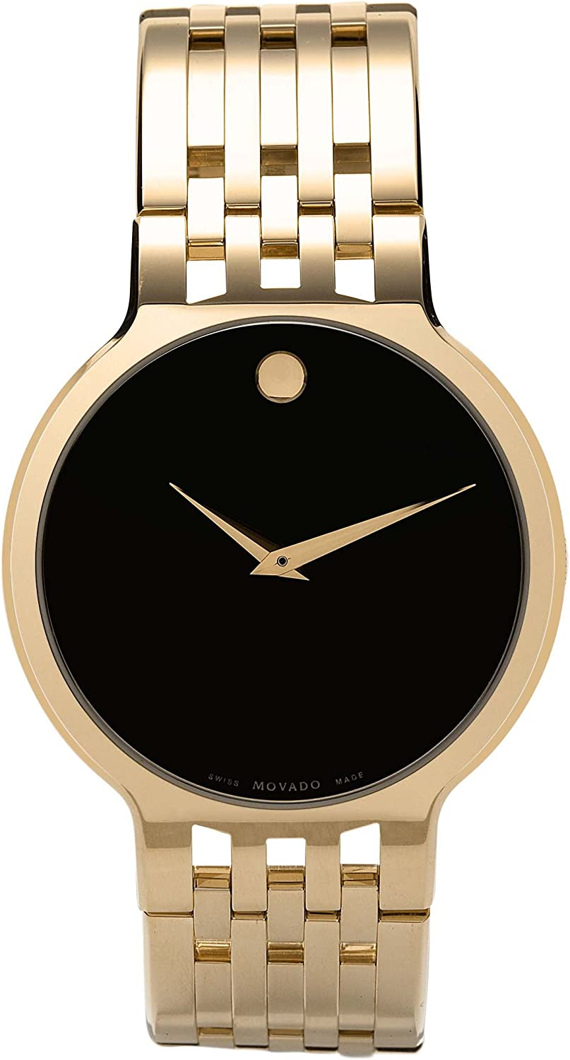 Movado Men s 606068 Esperanza Gold-Plated Stainless-Steel Watch