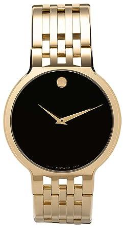 amazon com movado men s 606068 esperanza gold plated stainless movado men s 606068 esperanza gold plated stainless steel watch