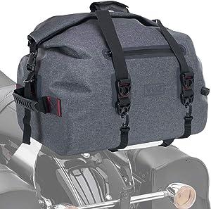 Vuz Moto Premium Waterproof Dry Duffle Bag, Motor-Bike Tail Bag with Adjustable Straps, 40-Liters
