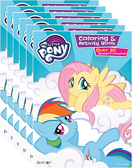 - Amazon.com: Bendon My Little Pony Coloring And Activity Book With Stickers  (Pack Of 6): Toys & Games