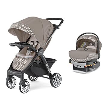 Chicco Bravo LE Stroller KeyFit 30 Zip Infant Car Seat And Base Travel System