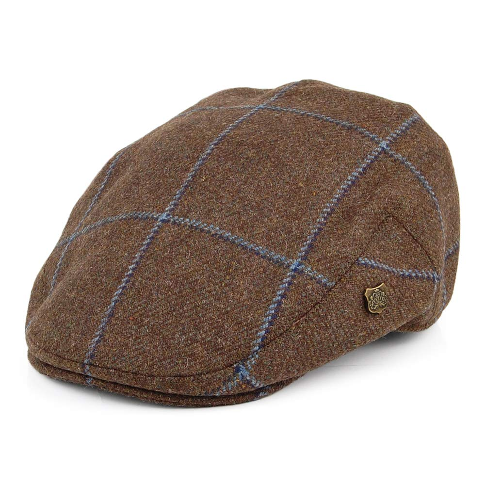 Failsworth Gorra Plana Gamekeeper a Cuadros Turba-Azul - 61 ...