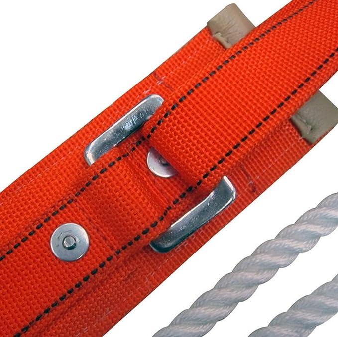 Arnés de escalada. seguro cinturones de montaña hacia el exterior ...