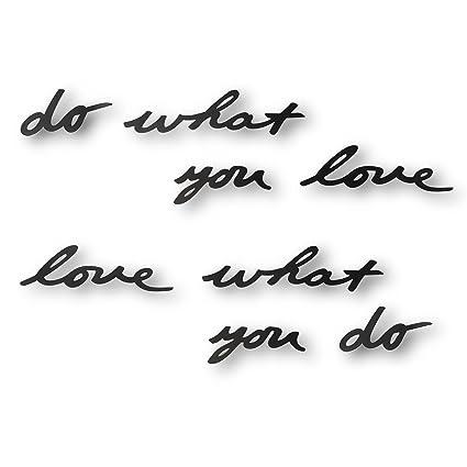 Amazon.com: Umbra Mantra Do What You Love Metal Wall Decor Phrase ...