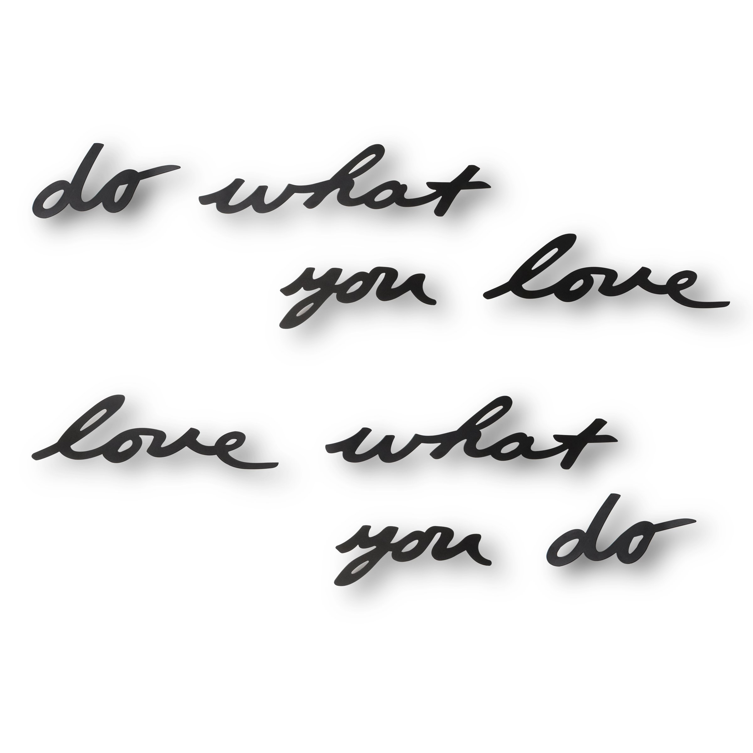 Umbra Mantra Do What You Love Metal Wall Decor Phrase