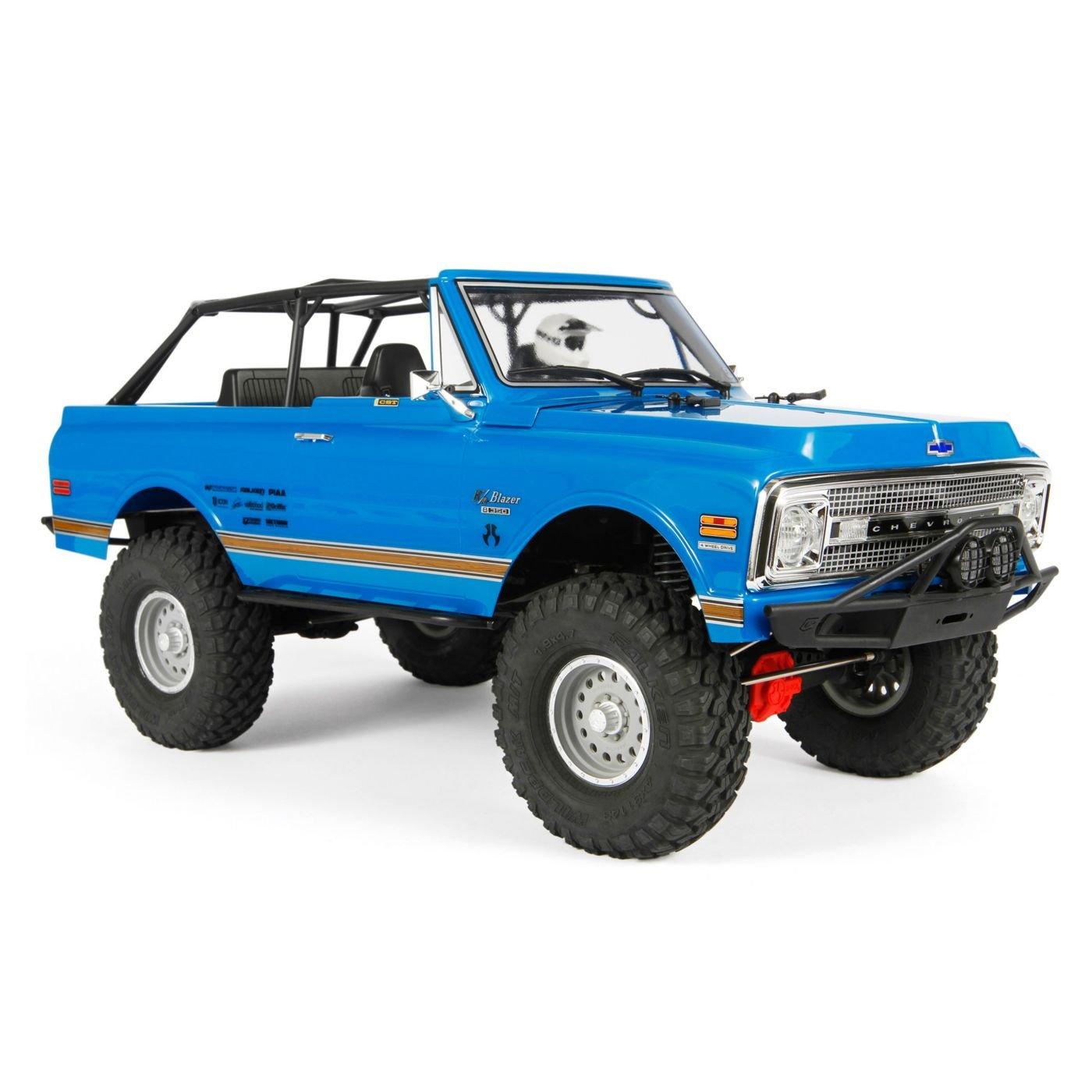 Axial SCX10 II '69 Chevrolet Blazer 4WD RTR RC Rock Crawler Off-Road 4x4, 1/10 Scale (Blue)