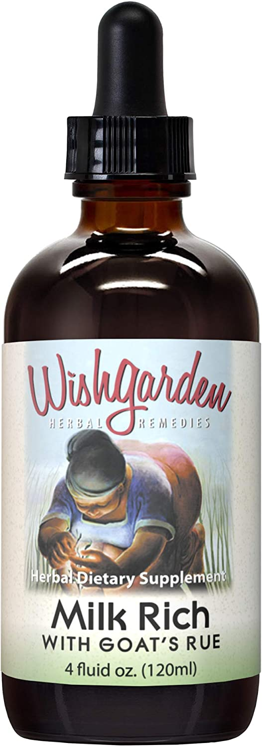 WishGarden Herbs Milk Rich - Herbal Lactation Drops for Breastfeeding to Support Healthy Milk Supply and Production, Tincture with Organic Fenugreek, 4 Ounce