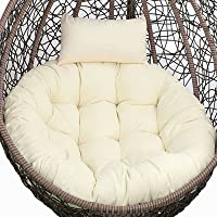 Hammock Chair Swing Cushion Only, Egg Chair Cushion Replacement Outdoor, Thick Round Hanging Chairs Seat Cushion Cover…