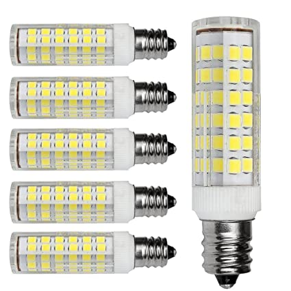 Kakanuo E12 LED Bulb 5 Watt Daylight White 6000K Candelabra Base ...