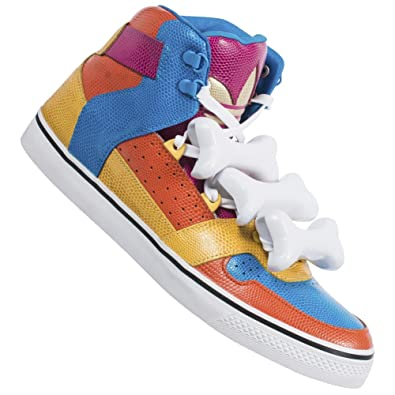 0c8f3a91e20054 adidas Jeremy Scott JS Os Multicolore Homme Cuir High Chaussures/baskets  D65207 (42 2