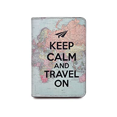 Amazon novelty leather passport cover vintage passport novelty leather passport cover vintage passport wallet travel accessory gift keep calm and gumiabroncs Choice Image