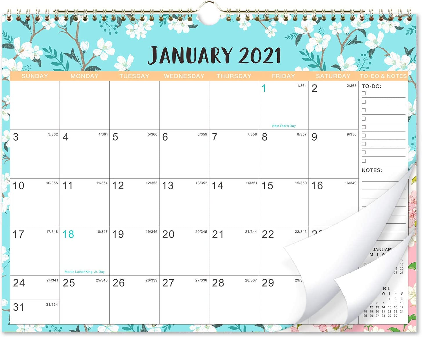2021-2022 Calendar - 18 Monthly Wall Calendar with Thick Paper, 14.6