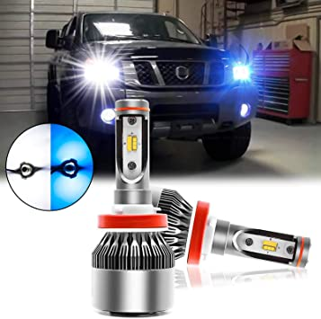 2X H8 H9 H11 Cree Car LED Mini Headlight Bulbs COB Fog Driving Lamps 6000K White