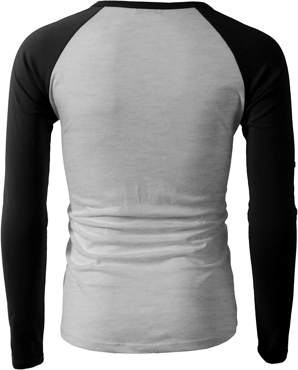 Generic Mens Casual Slim Fit Cotton Shirts Long Sleeve Henley T-Shirts