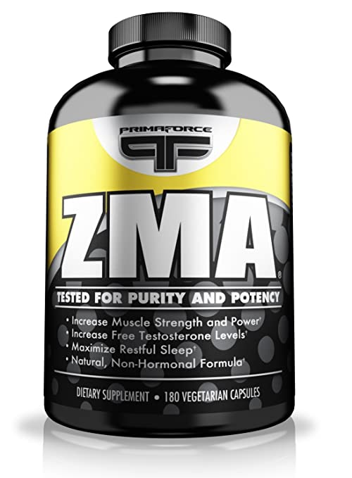 Primaforce Supplement, ZMA Wellness Capsules- Immunity Booster, Improve Sleep, Supports Hormone Production- 180 Count
