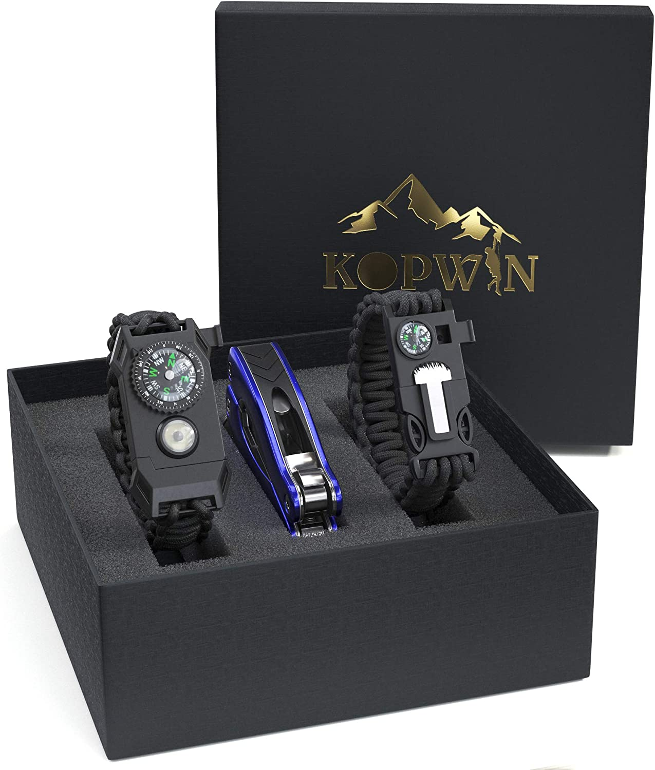 Kopwin Paracord Survival Bracelet Set