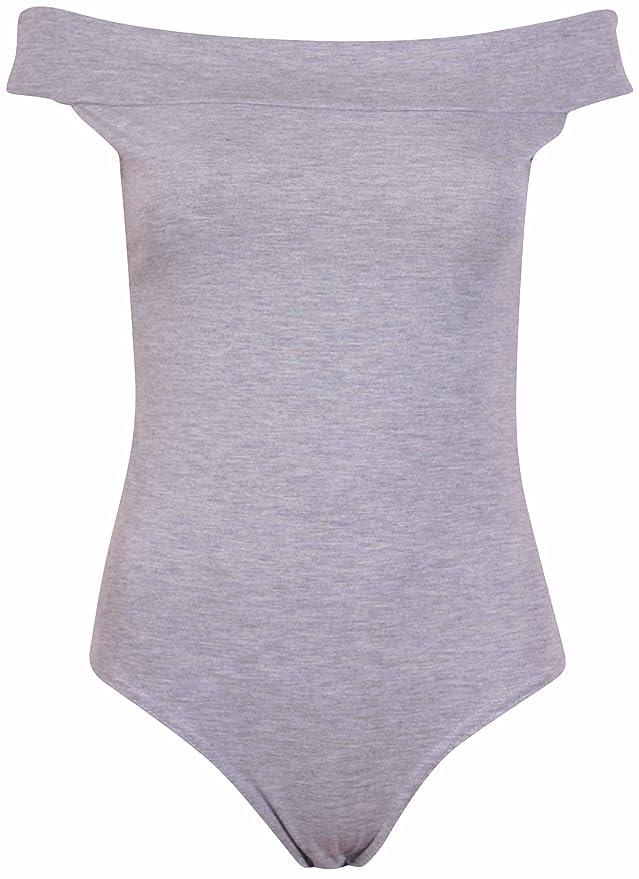 Purple Hanger Ladies Short Sleeve Plus Size One Piece Leotard Womens Bodysuit Stretch Crew Neck Top