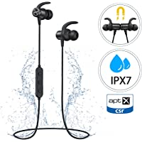 Bluetooth Headphones, Mpow S11 Sport Wireless Earphones With Bluetooth 5.0 & aptX, IPX7 Earphones HD Stereo Sound for 9 Hrs Playtime, Magnetic Earbuds with Mic for Running Jogging Workout