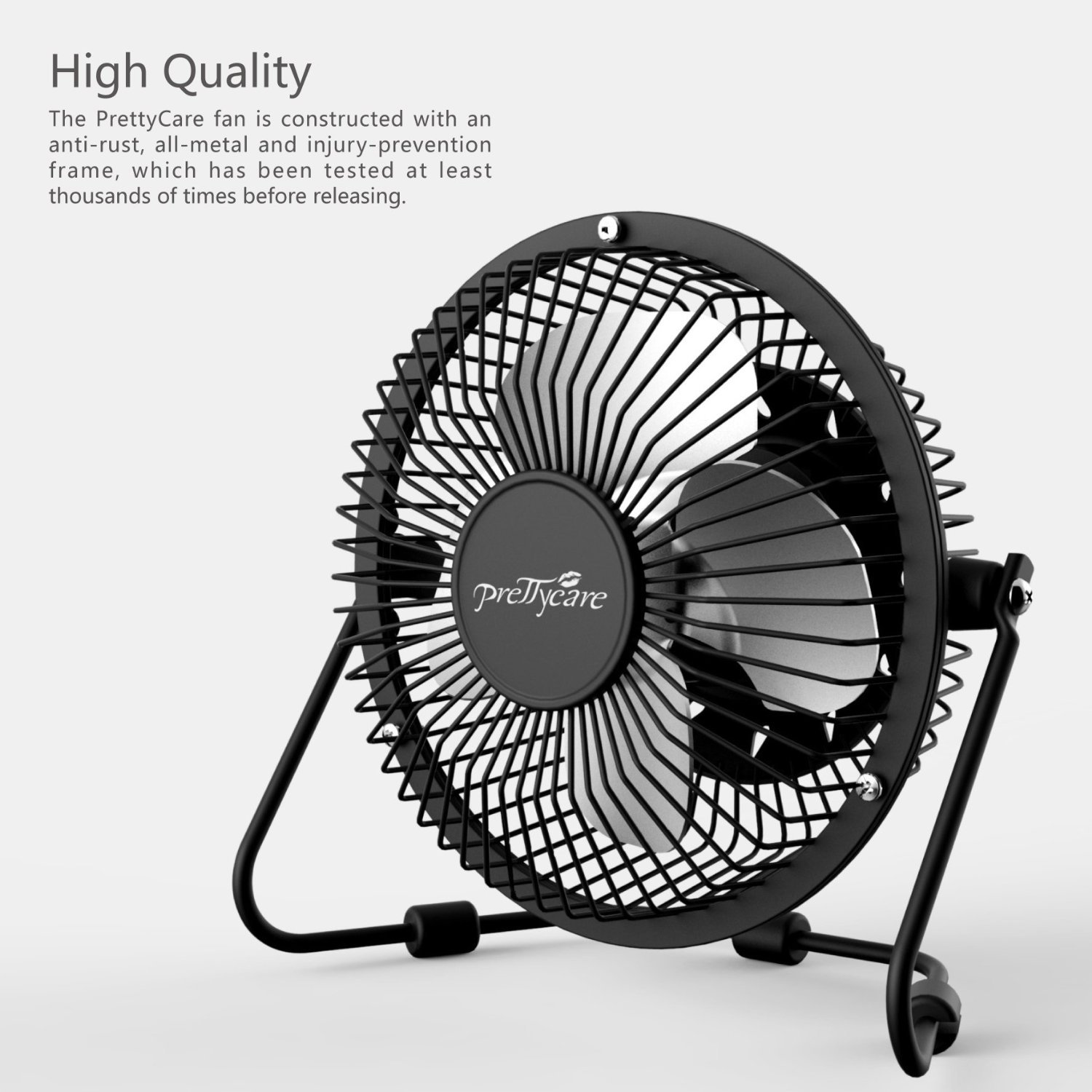 Amazon.com: PrettyCare USB Desk Fan (Powerful Airflow/ A Free Adapter)  Personal Mini Fan   Small Table Fan With Pedestal/ Air Radiator For Laptop,  ...