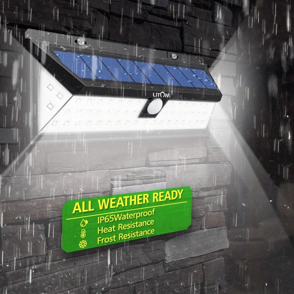 Litom Super Bright Solar Lights 54 LED Solar Power Outdoor Motion Sensor Light With LED on Both Side by Litom (Image #3)