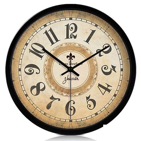 Reloj grande,Relojes retro europeos Reloj Reloj de pared creativo Sala Cuadros de la pared