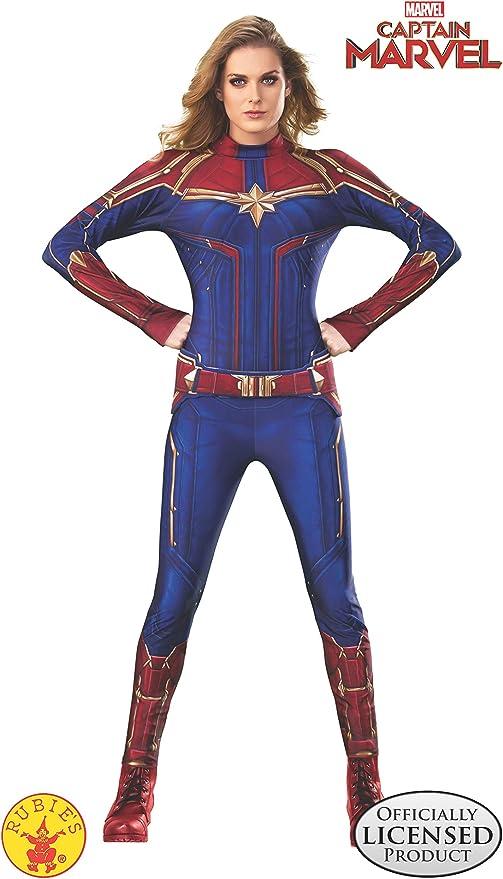 Rubie's Women's Captain Marvel Hero Suit, as Shown, X-Small