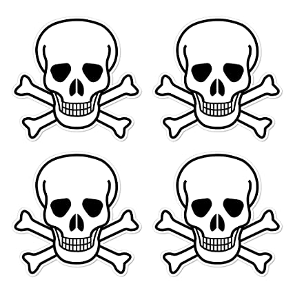 Amazon Dealzepic Die Cut Skull And Crossbones Sign Symbol