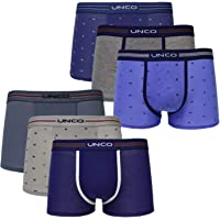 UNCO Calzoncillos de Algodón Niño 2 a 16 Años Pack de 6 Ropa Interior Infantil Boxer Pack de 6 Cómodo y Duradero Regalo…