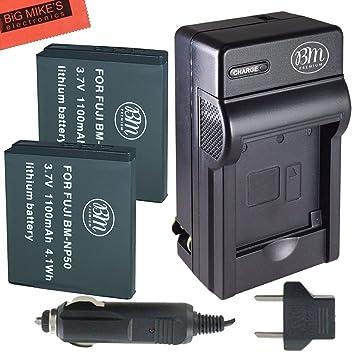 Amazon.com: Bm Premium unidades 2 baterías NP-50 y Kit de ...