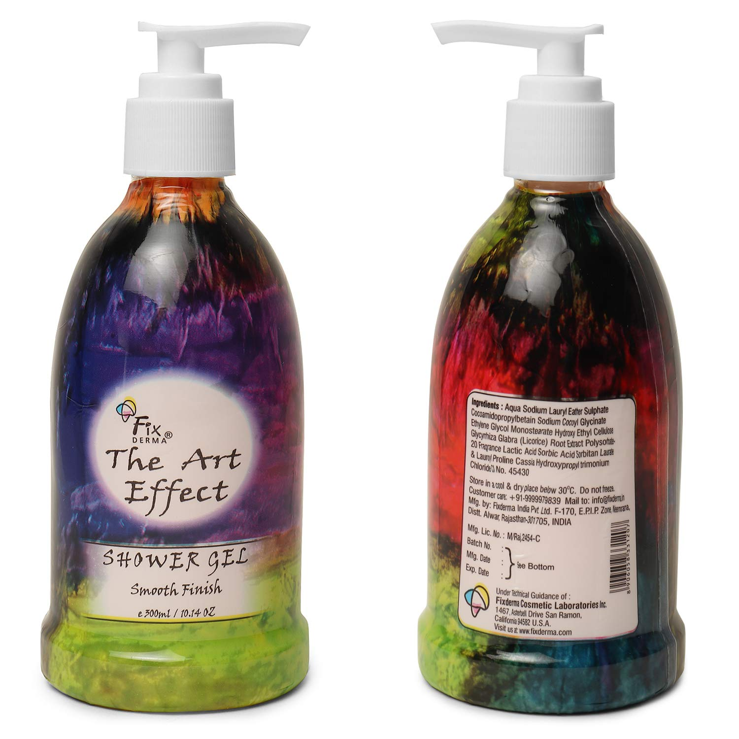 The Art Effect Shower Gel Smooth Finish Body Wash With Extra Moisturizer Non-Greasy Non-Drying Hydrating & Soothing 300ml