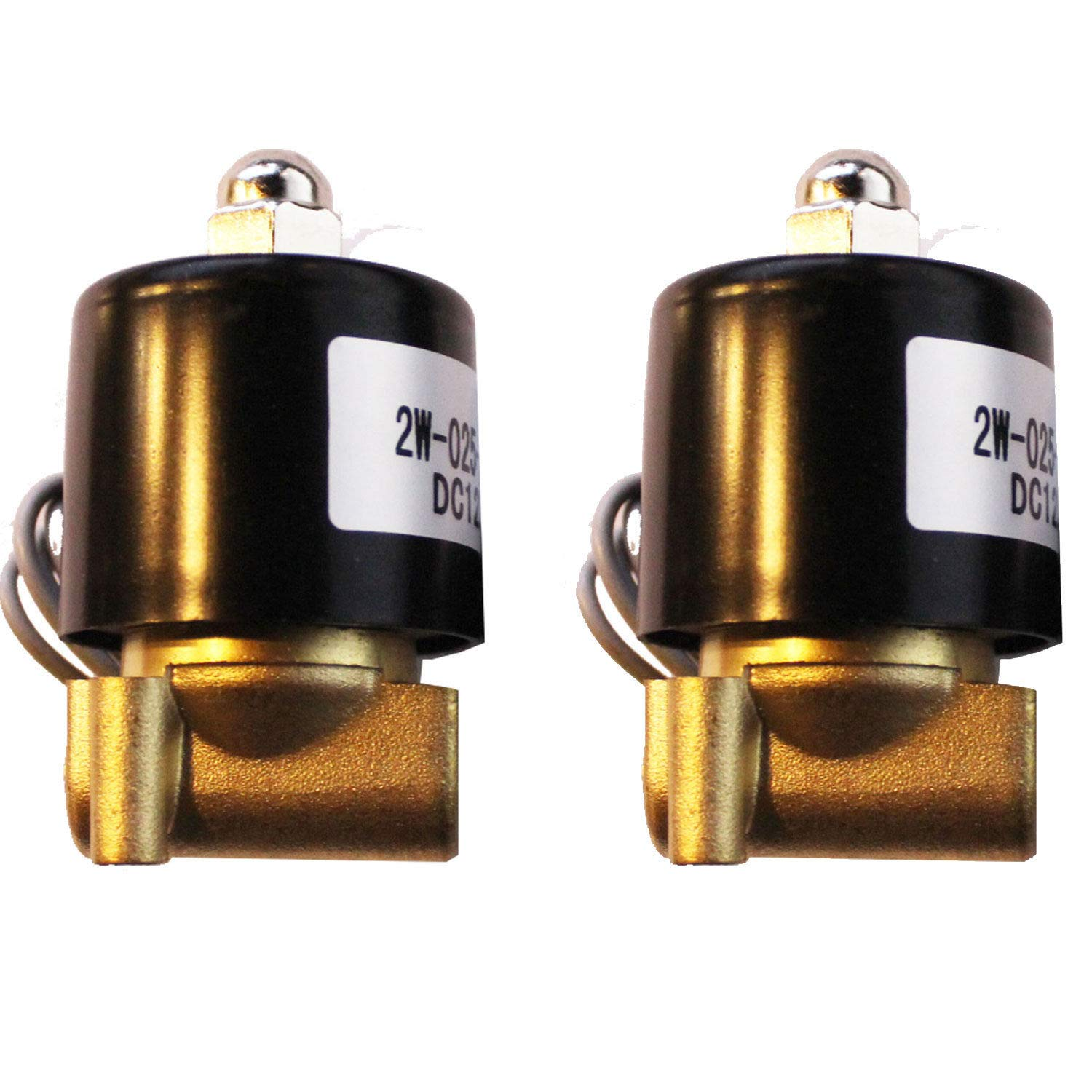 Airbagit air Ride Suspension Brass 1/4'' npt 2 Valve solenoids for Train Horn or Custom by Airbagit