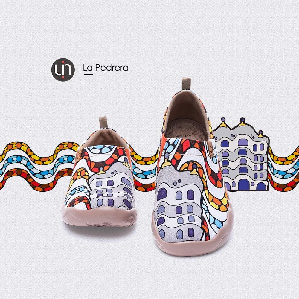 Sport Voyage Marcher Version 2020 UIN Chaussure Femme Toile Comfortable Espadrilles Femme Design Origine Chaussure de Bateaux Femme Haut de Gamme Chaussure de Sport Femme pour Travail