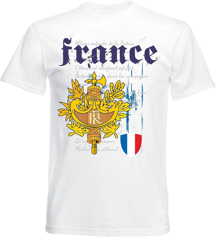 aprom Camiseta de Francia con el himno nacional de la bandera para ...