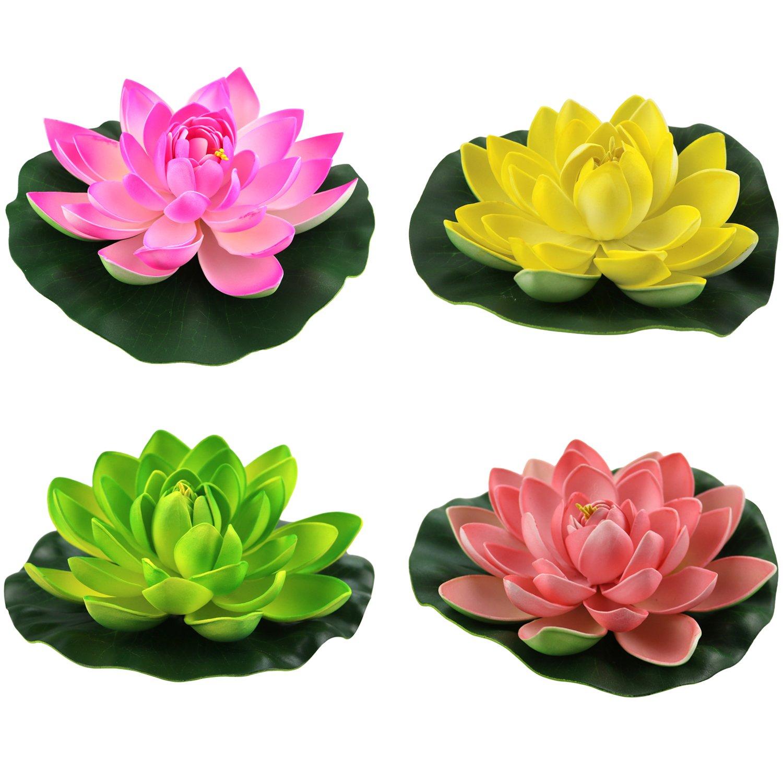 Amazon Lightingsky Artificial Floating Foam Lotus Flower Pond