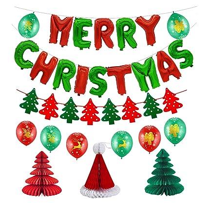Cute Christmas Party.Amazon Com Merry Christmas Decoration Kit Kwayi Merry
