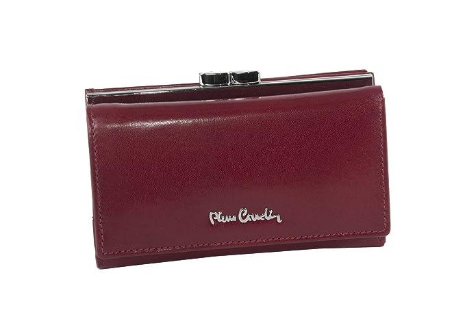 cartera mujer PIERRE CARDIN rojo en cuero con monedero externo A5607T: Amazon.es: Ropa y accesorios