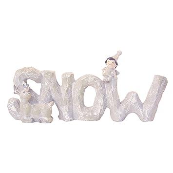 Amazon.de: ToCi Schnee 3D Schriftzug zum Aufstellen | Deko ...