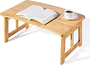 Laptop Bed Tray Multi Tasking Bamboo Lap Desk, TV Tray Table, Smartphone Tablet Lap Tray for Homework Study Reading Eating Food Tray Table