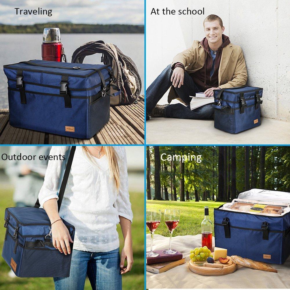 20L TOMSHOO Camping Insulated Cool Bag Cooler Picnic Bag/ /10L//18L//28L//37L//47L